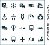 transport icons set with...   Shutterstock .eps vector #760626757