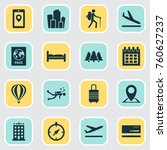 exploration icons set with doss ... | Shutterstock .eps vector #760627237