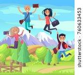enjoy your life weekend or... | Shutterstock . vector #760633453