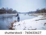Winter Fishing In The River...
