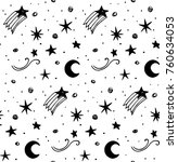 star background white and black ... | Shutterstock .eps vector #760634053