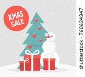 xmas sale. winter discounts....   Shutterstock .eps vector #760634347
