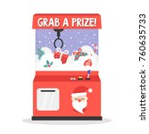 grab a prize. merry christmas...   Shutterstock .eps vector #760635733