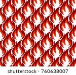 fire symbols seamless pattern.  ... | Shutterstock . vector #760638007