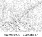 streets of bergamo  city map ... | Shutterstock .eps vector #760638157