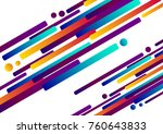 multicolored lines in motion.... | Shutterstock .eps vector #760643833
