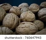 group walnut. healthy organic ... | Shutterstock . vector #760647943