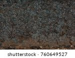 front view  of  rusty texture... | Shutterstock . vector #760649527
