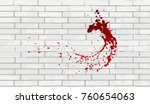 bloody stain  puddle  drop and... | Shutterstock .eps vector #760654063