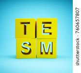 cubes with word stem education... | Shutterstock . vector #760657807