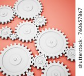 complex gear mechanism on... | Shutterstock . vector #760657867