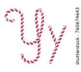 candy font  letter y  vector... | Shutterstock .eps vector #760674643