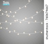christmas lights isolated on... | Shutterstock .eps vector #760674667