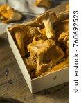 raw orange organic chanterelle... | Shutterstock . vector #760692523