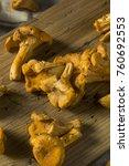 raw orange organic chanterelle... | Shutterstock . vector #760692553