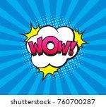 retro comic speech bubble with... | Shutterstock .eps vector #760700287