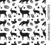 seamless pattern of black... | Shutterstock .eps vector #760700293