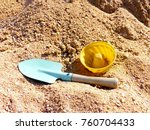 Close Up Of Toy Shovel And...