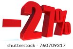 minus 27 percent off 3d sign on ... | Shutterstock . vector #760709317