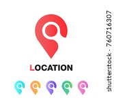 location icon vector. pin sign... | Shutterstock .eps vector #760716307