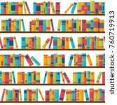 seamless pattern with books on... | Shutterstock .eps vector #760719913