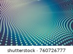 abstract polygonal space low... | Shutterstock . vector #760726777