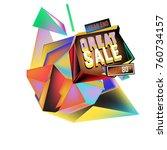vector abstract 3d great sale... | Shutterstock .eps vector #760734157