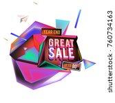 vector abstract 3d great sale... | Shutterstock .eps vector #760734163