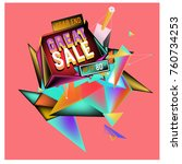 vector abstract 3d great sale... | Shutterstock .eps vector #760734253