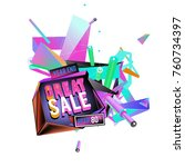 vector abstract 3d great sale... | Shutterstock .eps vector #760734397