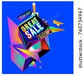 vector abstract 3d great sale... | Shutterstock .eps vector #760734967