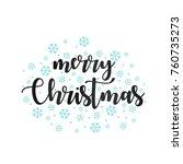 merry christmas vector text... | Shutterstock .eps vector #760735273