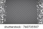 winter frame with white... | Shutterstock .eps vector #760735507