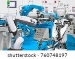 robot in smart factory  future... | Shutterstock . vector #760748197