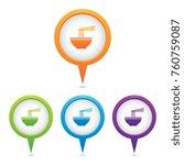 set of ramen noodle marker icons | Shutterstock .eps vector #760759087