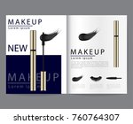 magazine set of various mascara ... | Shutterstock .eps vector #760764307