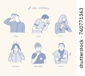 various symptoms of people... | Shutterstock .eps vector #760771363