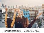 happy group of asia girl...   Shutterstock . vector #760782763