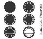vector stamp without text. set... | Shutterstock .eps vector #760786003