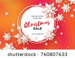 3d merry christmas big sale for ... | Shutterstock . vector #760807633