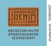 stencil plate sans serif font...   Shutterstock .eps vector #760820407