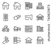 thin line icon set   home ... | Shutterstock .eps vector #760825873