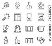 Thin Line Icon Set   Dollar...
