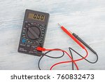 digital electric tester... | Shutterstock . vector #760832473