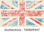 grunge flag of great britain...   Shutterstock .eps vector #760849447