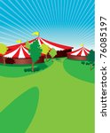 country fair background - stock vector