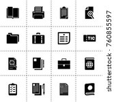 simple 16 set of document... | Shutterstock .eps vector #760855597