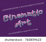 cinematic art typeface....