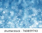 blue blur abstract background.... | Shutterstock . vector #760859743