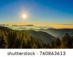 fantastic view over black...   Shutterstock . vector #760863613